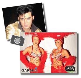 Pictures with Elvis & Show Girls sponsored by Garmin