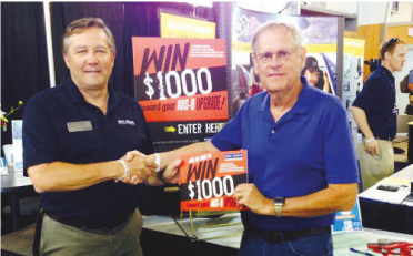 Michael Bauer was one of five $1,000 winners twoard an ADS-B Upgrage at 2014 Airventure