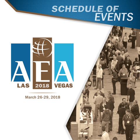 AEA Convention Schedule of Events