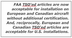 The aircraft electronics association the international agreement between the tcca and the faa allows for the reciprocal acceptance of technical standard orders that is faa tsoed articles are platinumwayz